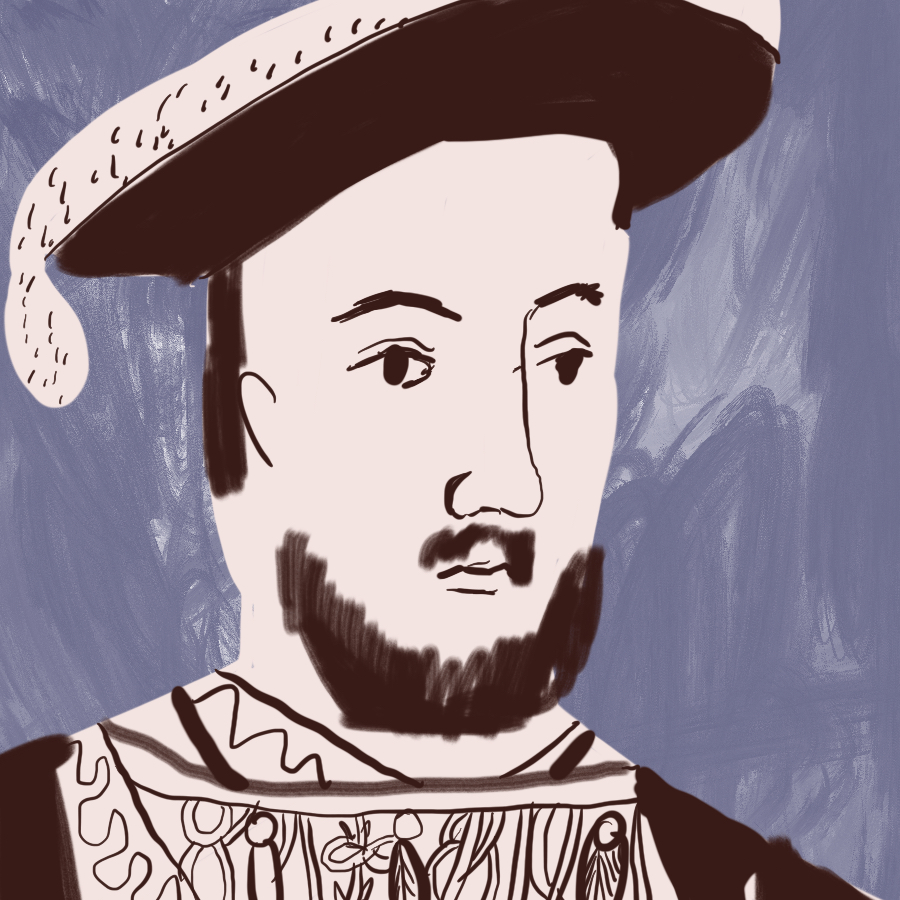 illustrated portrait of King Henry VIII