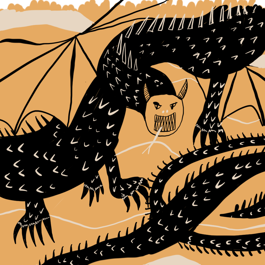 illustration of the Jabberwocky beast