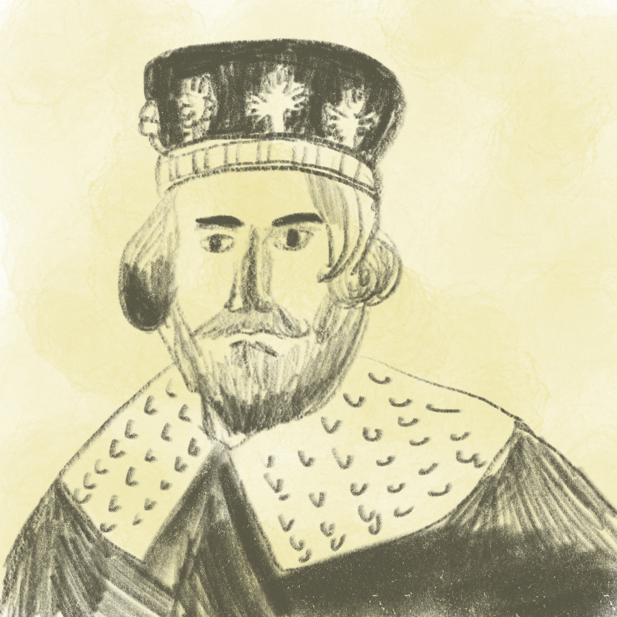 illustrated portrait of King John