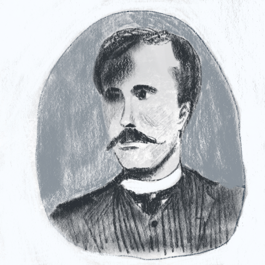 illustrated portrait of American writer O. Henry