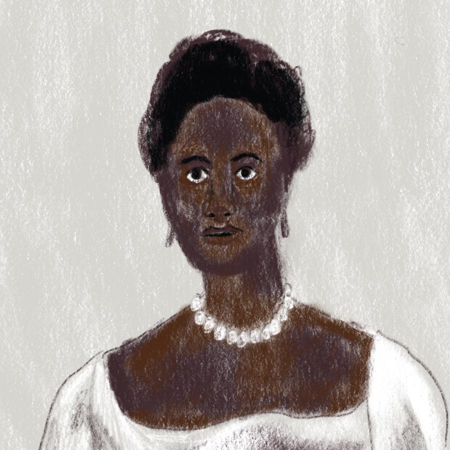 illustrated portrait of Phillis Wheatley