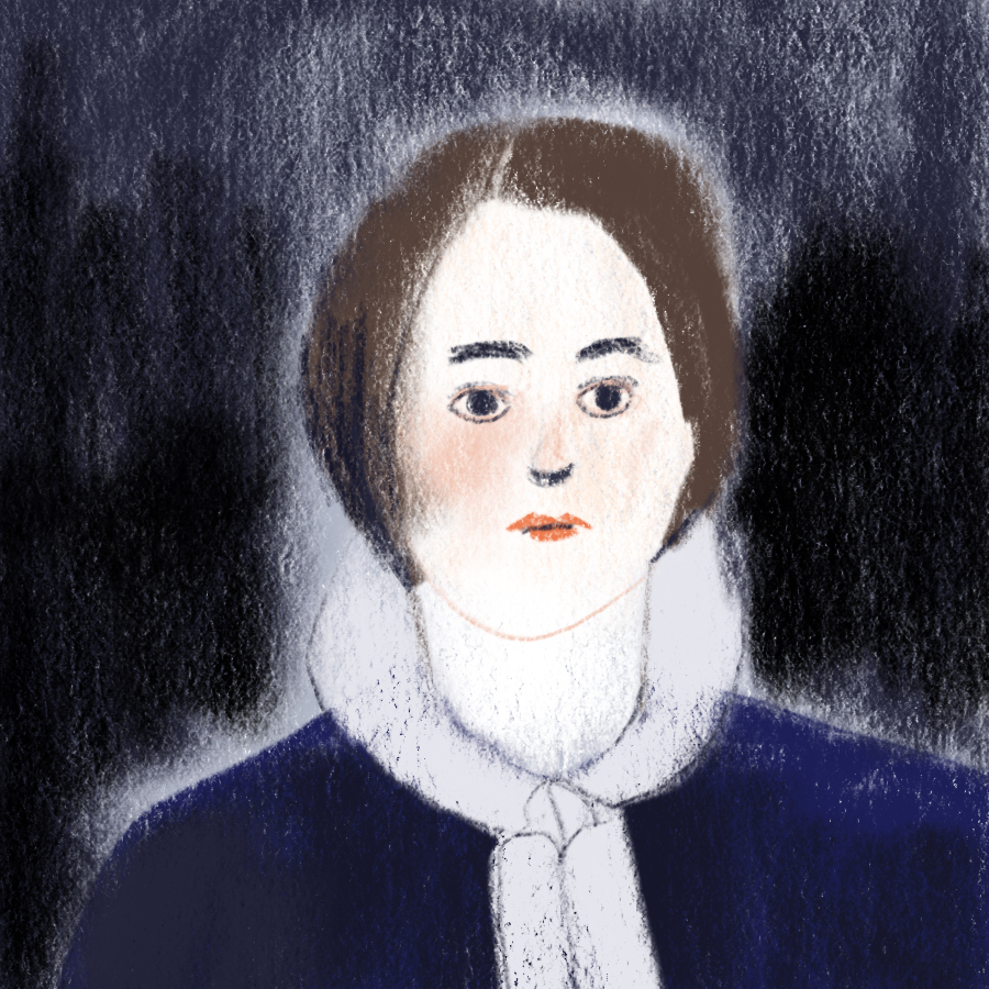 illustrated portrait of main character Lucy Snowe