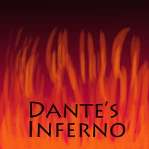 illustrated fire backgrounding the title Dante's Inferno