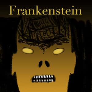 Illustration of the creature from Frankenstein