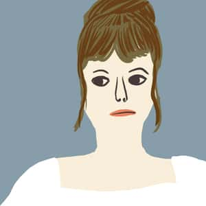 illustrated portrait of Mansfield Park main character, Fanny Price