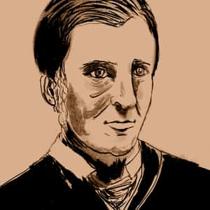 Illustration of Ralph Waldo Emerson