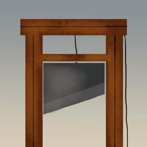 illustration of a guillotine