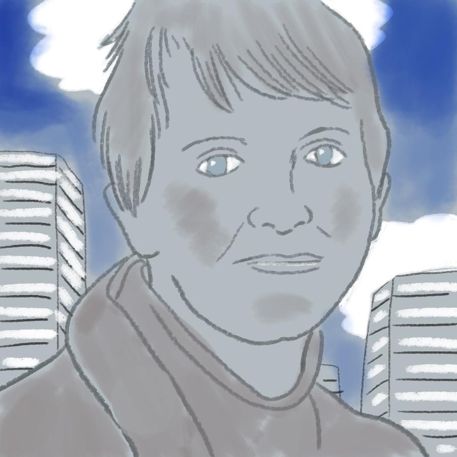 illustrated portrait of American author Lois Lowry