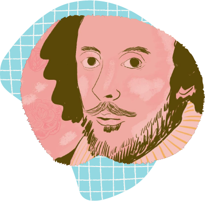 Illustration of William Shakespeare