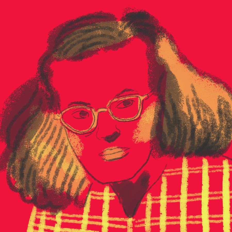 illustrated portrait of American author Shirley Jackson